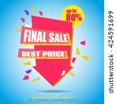 final sale arrow banner design. ... | Shutterstock .eps vector #424591699