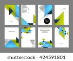 abstract background. geometric... | Shutterstock .eps vector #424591801