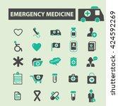 emergency medicine icons  | Shutterstock .eps vector #424592269