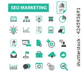 seo marketing icons  | Shutterstock .eps vector #424593691