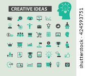 creative ideas icons  | Shutterstock .eps vector #424593751
