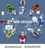 web design technology browsing... | Shutterstock . vector #424600294