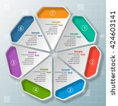 vector abstract 3d paper... | Shutterstock .eps vector #424603141