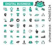 digital marketing icons  | Shutterstock .eps vector #424605124