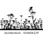 colorful flowering plant summer ... | Shutterstock .eps vector #424606129