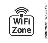wifi zone sticker  icon design  ...