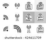 set wifi icons  flat design ...