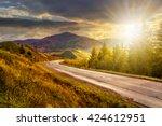 Empty Asphalt Mountain Road...
