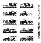 agricultural machinery in the... | Shutterstock .eps vector #424616749