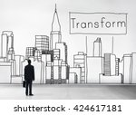 transform transformation change ... | Shutterstock . vector #424617181