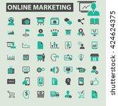 online marketing icons   | Shutterstock .eps vector #424624375