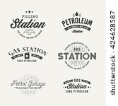 gas station vector set. | Shutterstock .eps vector #424628587