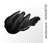 vector black paint smear stroke ... | Shutterstock .eps vector #424628755
