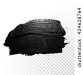 vector black paint smear stroke ... | Shutterstock .eps vector #424628764