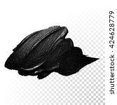 vector black paint smear stroke ... | Shutterstock .eps vector #424628779
