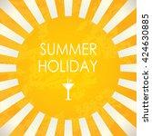 summer holiday  abstract vector ... | Shutterstock .eps vector #424630885