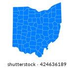 map of ohio | Shutterstock .eps vector #424636189