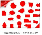 ribbon vector icon set red... | Shutterstock .eps vector #424641349