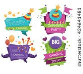 set of colorful party design... | Shutterstock .eps vector #424641481