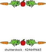 vegetarian | Shutterstock .eps vector #424649665