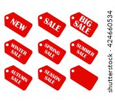 discount sale price tags labels ... | Shutterstock . vector #424660534