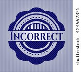 incorrect badge with denim... | Shutterstock .eps vector #424662325