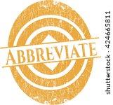 abbreviate grunge seal | Shutterstock .eps vector #424665811