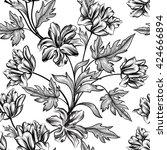 floral background. flower... | Shutterstock .eps vector #424666894