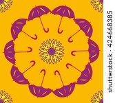 Umbrella And Flower Geometric...