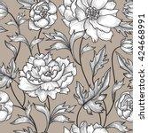 floral seamless pattern. flower ... | Shutterstock .eps vector #424668991