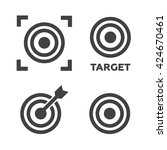 target icons set vector...