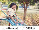 Girl Child Playful In The...