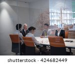 business people group... | Shutterstock . vector #424682449