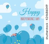 tuvalu independence day flat... | Shutterstock .eps vector #424686049