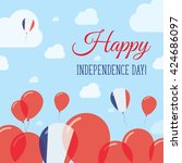 france independence day flat... | Shutterstock .eps vector #424686097