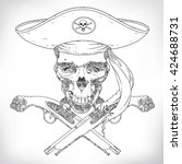 the vector image of pirate... | Shutterstock .eps vector #424688731