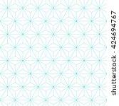 japanese asanoha pattern... | Shutterstock .eps vector #424694767