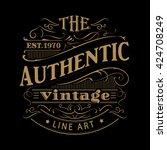 vintage label western hand... | Shutterstock .eps vector #424708249