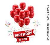 vector happy birthday... | Shutterstock .eps vector #424715911