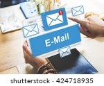 Stock photo email inbox electronic communication graphics concept 424718935