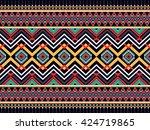 geometric ethnic oriental... | Shutterstock .eps vector #424719865