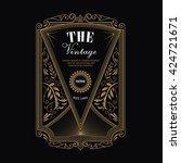 antique frame vintage border...   Shutterstock .eps vector #424721671