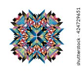 modern decorative abstract... | Shutterstock .eps vector #424729651