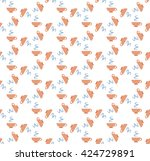 seamless pattern with cups of... | Shutterstock .eps vector #424729891