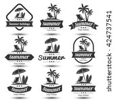 summer holidays design elements ... | Shutterstock .eps vector #424737541
