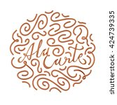 a la carte quote typographical...   Shutterstock . vector #424739335