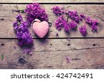 Fresh  Violet Lilac Flowers An...