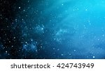 starry outer space  | Shutterstock . vector #424743949
