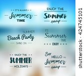 summer time logo templates.... | Shutterstock .eps vector #424745101
