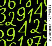 seamless vector pattern of... | Shutterstock .eps vector #424745881